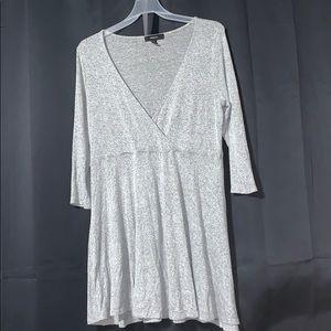 Marled surplice dress